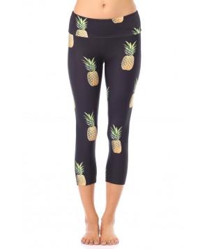 Goldsheep Pineapple Party Capri Legging