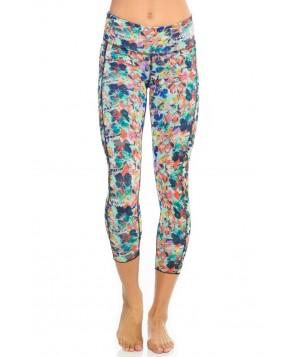 Hottie Yoga Wear Reversible Butterfly Dream Quench Capri