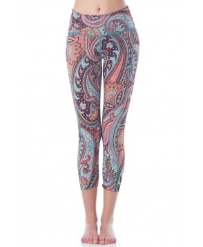 Hottie Yoga Wear Reversible Paisley Fantasy Quench Capri