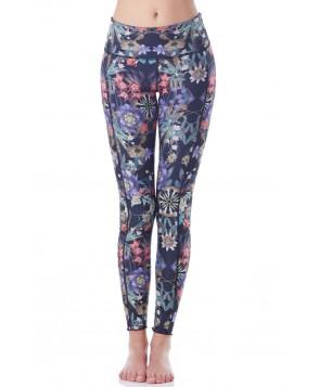 Hottie Yoga Wear Reversible Magic Mirror Quench Legging