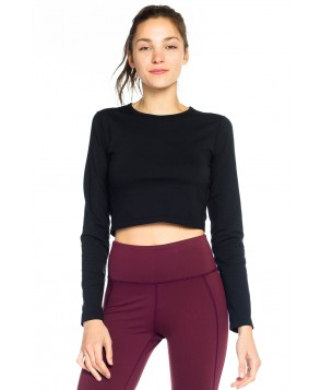 KiraGrace Cropped Long Sleeve Crew