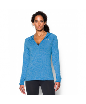 Under Armour Women's  Tech Long Sleeve Hooded Henley