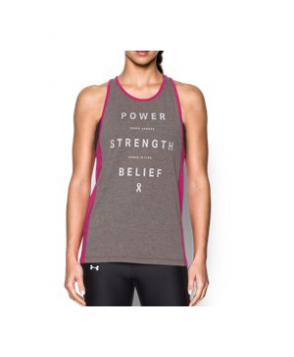 Under Armour Women's  Power In Pink Inset Tank