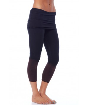 LVR Organic Fold Over Yoga Capris