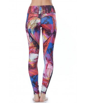 Nina.B.Roze Abstract Paint Heart Butt LeggingÔäó