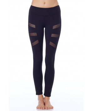 Nina.B.Roze Black Side Plank Mesh Legging