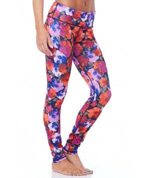 Rese Activewear Red Floral Kori Legging