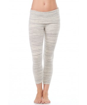Saint Grace Cream Fold Over Crop Legging