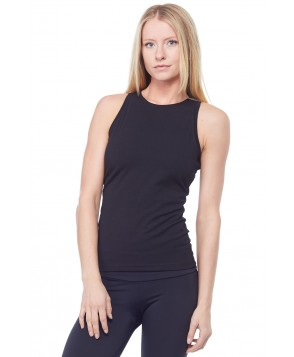 Sandra McCray Flat High Neck Tank w/Bra