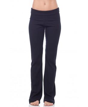 Sandra McCray Ribbed Foldover Pant