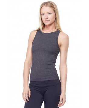 Sandra McCray Ribbed High Neck Tank