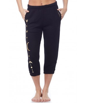 Spiritual Gangster Moon Arrow Crop Harem Sweatpant