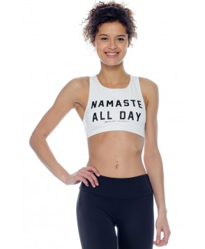 Spiritual Gangster Namaste All Day High Neck Bra