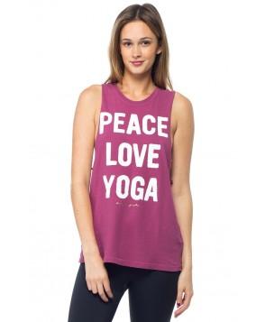 Spiritual Gangster Peace Love Yoga Rocker Tank