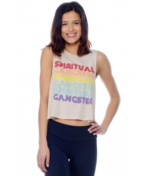 Spiritual Gangster SG Repeat Crop Tank