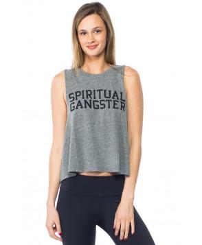 Spiritual Gangster SG Varsity Logo Crop Tank