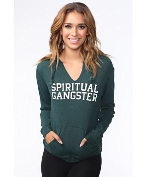 Spiritual Gangster Vine Green Varsity Hoodie
