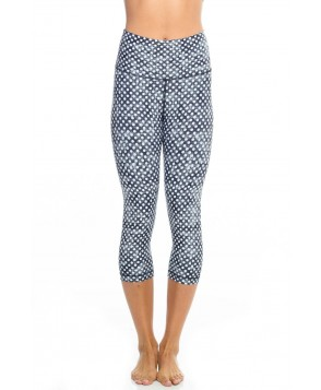 Wear it to Heart Cloudy Polka Dots High Waisted Capri