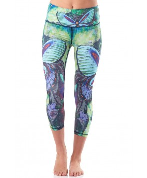 Yoga Democracy Butterfly Cropped Leggings