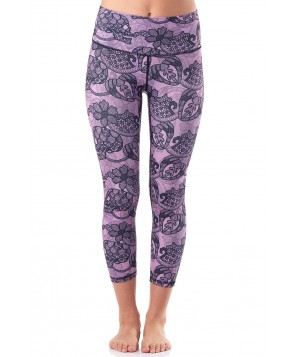 Yoga Democracy Candy Skull Cropped Leggings