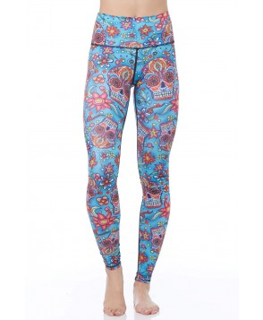 Yoga Democracy Day of the Dead Yoga Legging