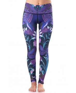 Yoga Democracy Dragonfly Orchid Yoga Legging
