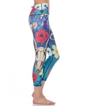 Yoga Democracy Georgia Cropped Legging