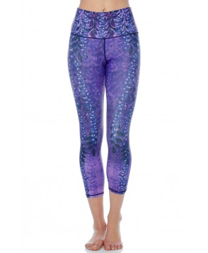 Yoga Democracy Wistful Wisteria Cropped Legging