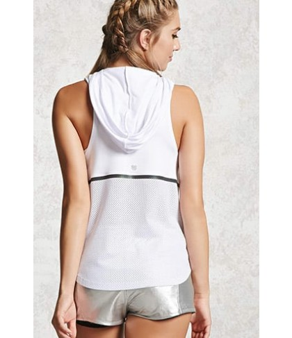 Forever 21 Active Mesh-Back Hoodie