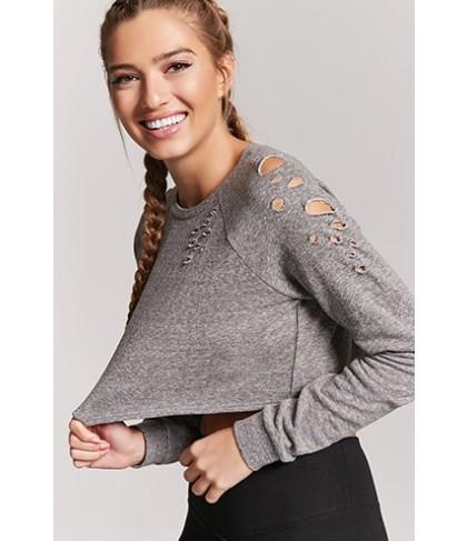 Forever 21  Active Distressed Sweatshirt