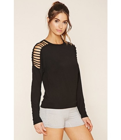 Forever 21 Active Cutout Top