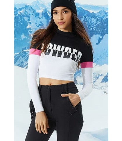 Forever 21 Active Powder Colorblock Top