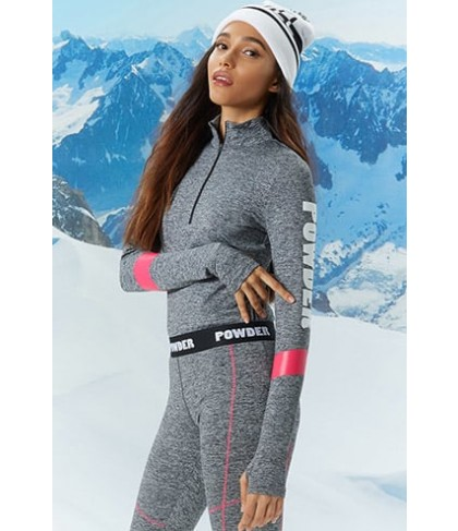 Forever 21  Active Heathered Powder Top
