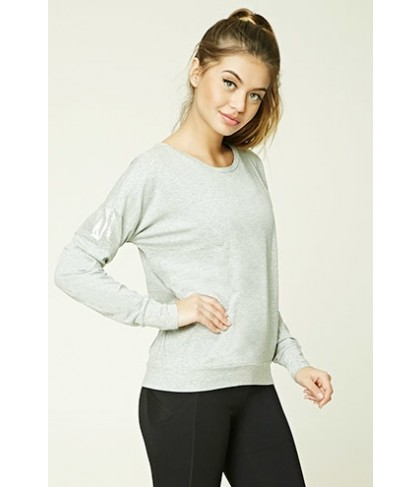 Forever 21 Active Metallic-Insert Top