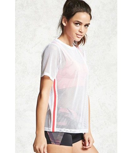 Forever 21 Active Sheer Mesh Top