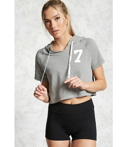 Forever 21  Cropped Graphic Hoodie