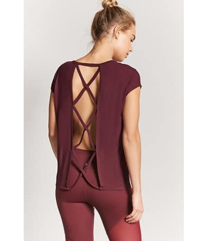 Forever 21 Active Crisscross Top