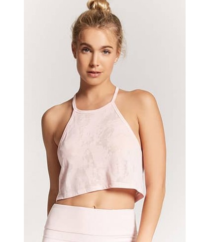 Forever 21 Active Burnout Crop Top