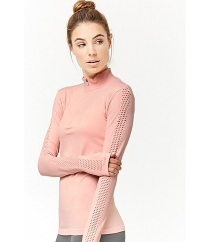 Forever 21  Active Perforated-Sleeve Top