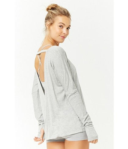 Forever 21  Active Plunging Back Top