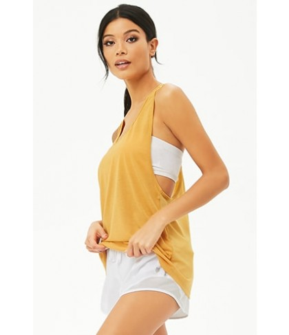 Forever 21  Active Mesh Back Muscle Tee