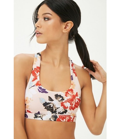 Forever 21  Medium Impact - Floral Print Sports Bra