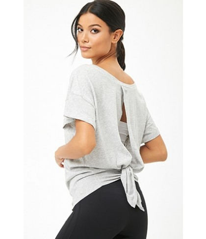 Forever 21  Active Self-Tie Cutout Back Tee