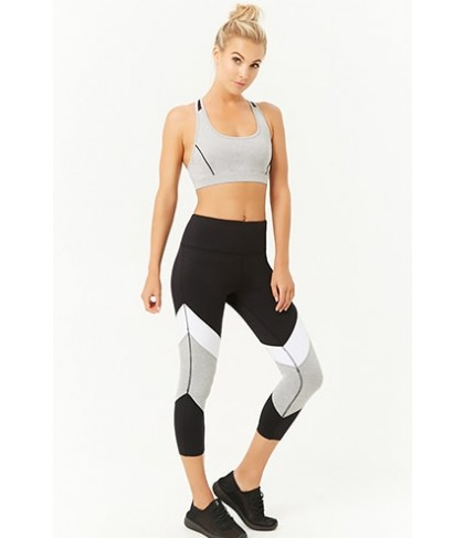 Forever 21  Active Textured Dot Colorblock Leggings