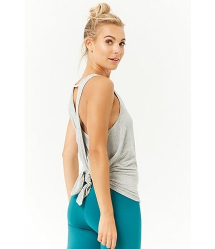 Forever 21  Active Heathered Racerback Cutout Tank Top