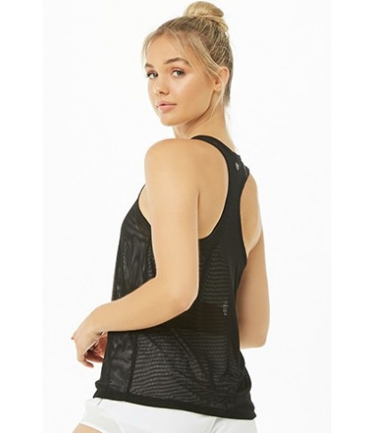 Forever 21  Active Mesh Racerback Tank Top