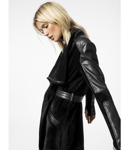 Carbon38 Drape Velour Jacket