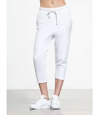 Carbon38 Cropped Sweatpant W/ Raw Hem