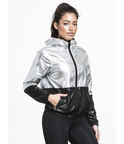 Carbon38 Metallic Woven Jacket