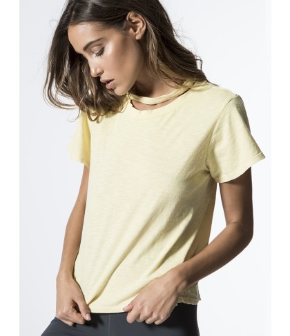 Carbon38 Double Neck Band Tee